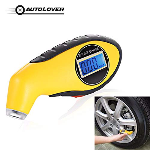 Auto Gauge Tester Diagnostic Tool - for Driving Safety Tire - Pressure Gauge Meter Manometer Barometers Tester Digital LCD Tyre