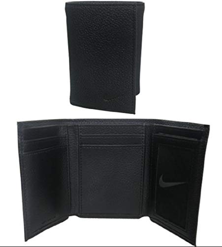 4b8cf61e7e Nike Golf Men's Genuine Leather Pebble Trifold Wallet, Black - Import ...