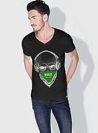 Creo Saudi Skull T-Shirts For Men - L, Black