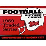 1989 Topps Traded Football Complete Mint 132 Card Set in Original Factory Set Box. Featuring Rookie Cards of Barry Sanders, Troy Aikman, Derrick Thomas, Deion Sanders and Many Others! фото