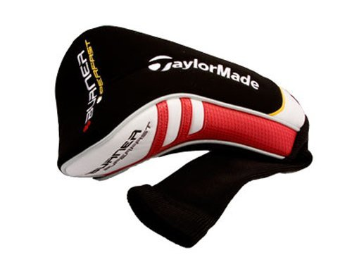 Taylor Made Burner Superfast Driver Headcover (Blk/White/Red) Golf NEW by Taylor Made Products (Image #1)
