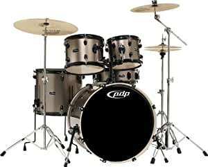 pdp mainstage 5 piece drum set with sabian cymbals bronze metallic musical instruments. Black Bedroom Furniture Sets. Home Design Ideas