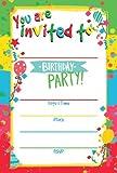 Birthday Invitations, 20 Count Happy Birthday Invitations with Envelopes - Kids Birthday Party Invitations for Boys or Girls by Nova 7