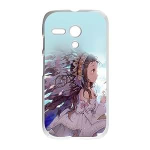 Motorola G Cell Phone Case White_indian girl anime birds illust art Shorx