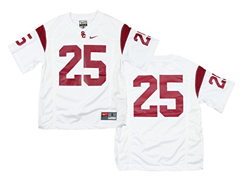 Nike NCAA Big Boys Youth USC Trojans #25 Replica Football Jersey, White
