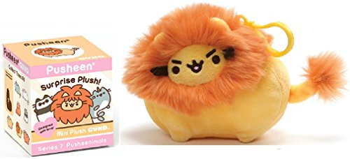 GUND Pusheenimals Blind Box Series 7 Bundle with Pusheen Lion Backpack Clip