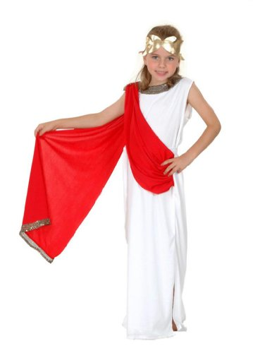 Goddess Costume Girl's Costume: Ancient Goddess Large 10-12 Yrs (Roman Girl Costume)