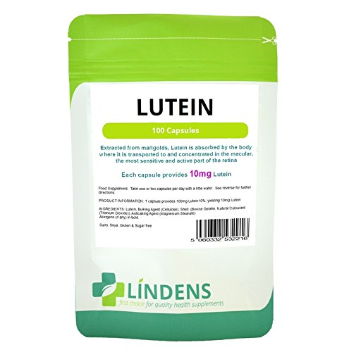 300 Capsules 10 Mg (Lindens Lutein tablets 10mg TRIPLE PACK 300 capsules Quality Natural Supplement)