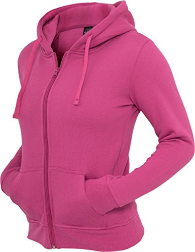 Hoody suéter Urban Zip Ladies Pullover fucsia Classics Mujer IqCqw68H