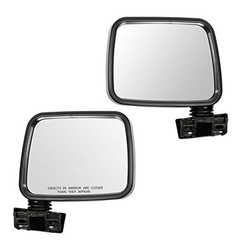 Mirror Manual Black LH Left RH Right Pair Set for 88-93 Isuzu Pup Pickup Rodeo