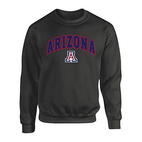 Cat Logo Mens Sweatshirt - Elite Fan Shop NCAA Men's Arizona Wildcats Crewneck Sweatshirt Dark Heather Arch Arizona Wildcats Dark Heather Medium