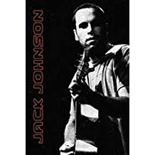Posters: Jack Johnson Poster - Black And White (36 x 24 inches)