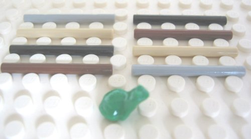Lego Harry Potter: Minifigure Utensils 1x Green Frog + 8x Wand (include 1x OLD Brown Wand) Loose (Brown Green Frogs)