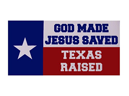 AES Wholesale Lot 6 God Made Jesus Saved Texas Raised State TX Decal Bumper Sticker