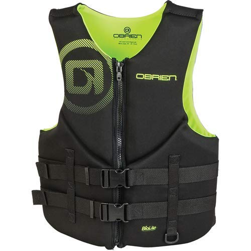 OBrien Mens Traditional Neoprene Life Jacket, Green, X-Small
