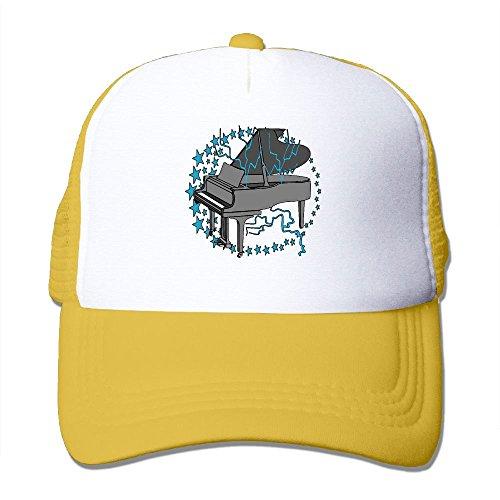 Power Rangers Lamp (ZhiqianDF Momen's Grand Piano Carryall Casual Style Golf Yellow Mesh Caps Hats Adjustable Snapback)