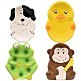 Animal Friends 4 Ceramic SOAP Dishes Monkey, Frog, Dog, Duck