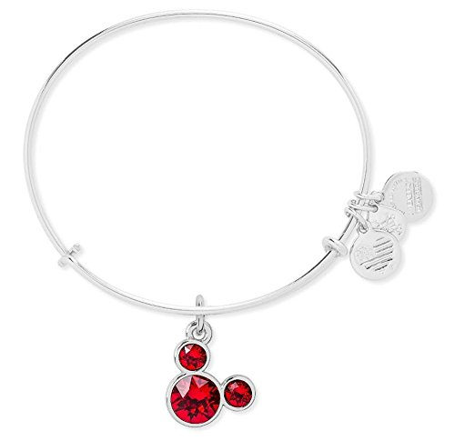 - July Birthstone Mickey Mouse Icon Disney Alex & Ani Charm Bracelet (Silver)
