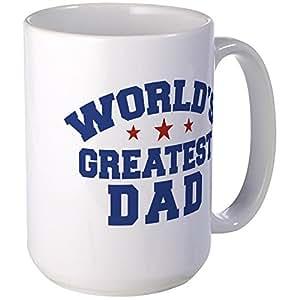 CafePress - World's Greatest Dad Large Mug - Coffee Mug, Large 15 oz. White Coffee Cup