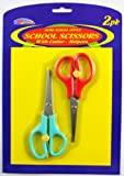 2Pk 5 1/2'' School Scissors Set [72 Pieces] - Product Description - 2Pk School Scissors With Cutter-Helpers Pointed Handle Type: Straight Home-School-Helpers ...