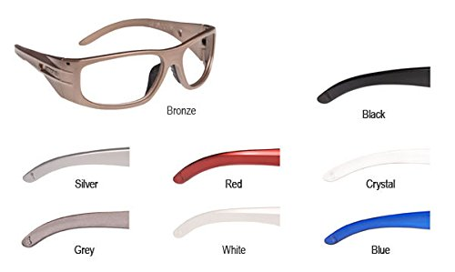f1c3360971c Image Unavailable. Image not available for. Color  ArmouRx Crystal 6001 Safety  Glasses - Prescription Ready