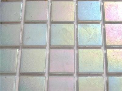 75 Sheet White Iridescent 20mm Mosaic Tiles
