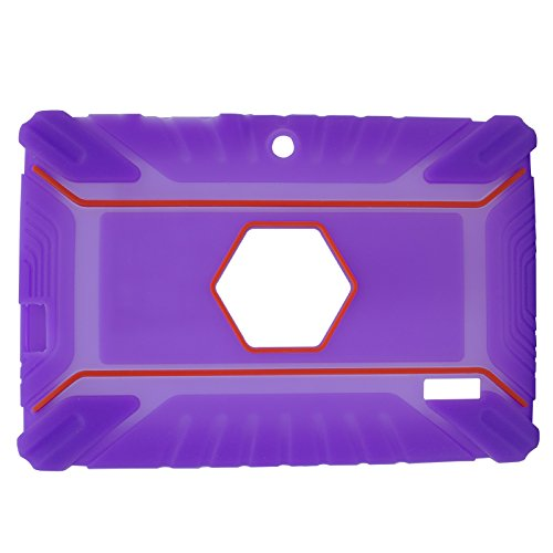 Transwon 7 Inch Kids Case Compatible with INONI Kids Tablet Android 6.0, Ainol Q88, TOPELOTEK 7, Dragon Touch Y88X Plus, Tagital 7 T7K, Contixo Kids Tablet K2 K3 - Purple