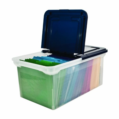 Innovative Storage Designs 55797 File Tote With Hinged Lid