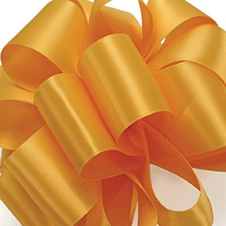 Offray Double-Face Satin Ribbon 7/8 Inch 100 Yards Yellow Gold, Several Colors + Custom Print -