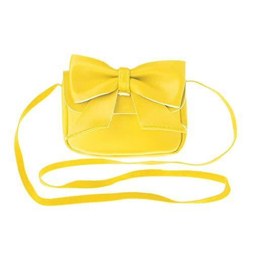 Portefeuille Senoow Yellow Messenger Girl à Sac Lovely Bandoulière Crossbody Purses Bowknot Kids Petit zIrIqH7