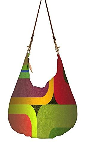 Snoogg , Damen Umhängetasche mehrfarbig mehrfarbig L