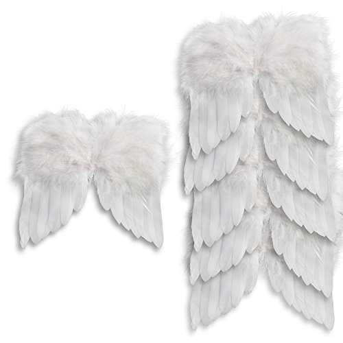 Factory Direct Craft Package of 6 White Feather Angel Wing Ornaments - 5 1/2 inches Wide x 5 1/2 inches high