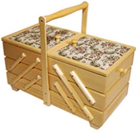 Caja costurero de coser de mano de trabajo con cesta acericos de ...