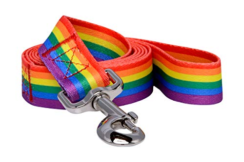 (Native Pup Rainbow Flag Pride Dog Leash)