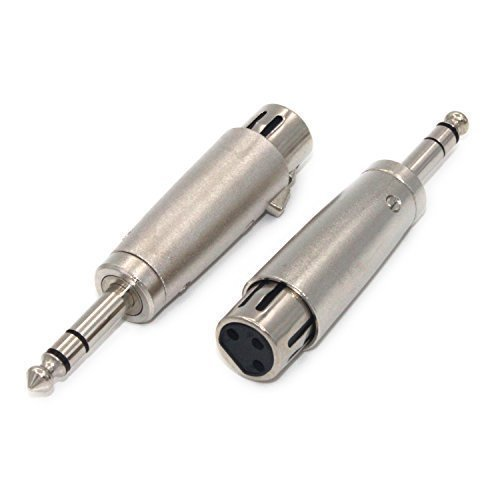 ZRAMO TH087 2PC Professional Adapter XLR Female Holes to 6.35mm 1/4 inch Stereo Jack Plug Audio cable for KTV Microphone music industry,mics,DJ's,PA Systems,instrument -