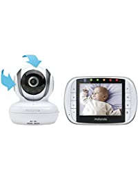 Motorola MBP36S Remote Wireless Video Baby Monitor with 3.5-Inch Color LCD Screen, Remote Camera Pan, Tilt, and Zoom BOBEBE Online Baby Store From New York to Miami and Los Angeles