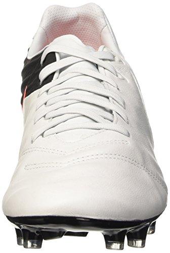 Nike Tiempo Legacy II FG, Botas de Fútbol para Hombre Blanco / Negro / Naranja (Pure Platinum / Black-Hypr Orng)