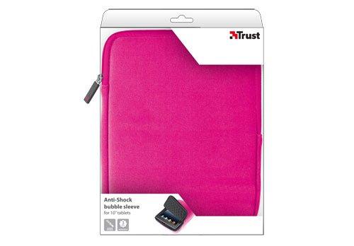 Amazon.com  Trust Anti-shock Bubble Sleeve for 10   Tablets Pink 18776   Home Audio   Theater c97e2938de