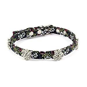 PetFavorites Rhinestone Dog Collar Crystal Birthday Jewelry Flower Cloth Cat With Bling