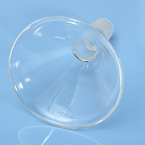 Lucksender 90mm 24/29 Transparent Glass Funnel Lab Glassware Supply