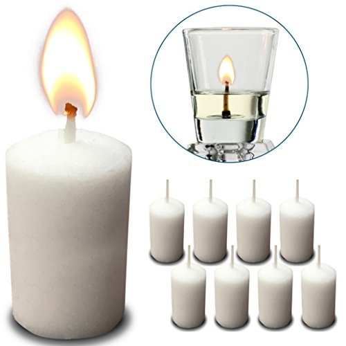 Price comparison product image 6 Hour Neironim Candles - Shabbat and Votive Wax Candle - 72 Count - by Ner Mitzvah