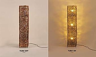 LXD Lámpara de pie hecha a mano del hogar, lámpara de pie de ...