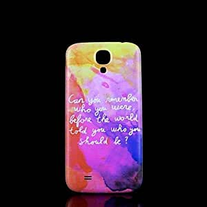 ZXC Samsung S4 I9500 compatible Graphic/Special Design Plastic Back Cover