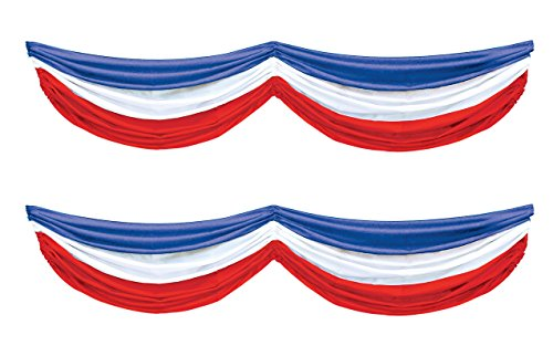 Beistle S50948AZ2, 2 Piece Patriotic Fabric Buntings, 5