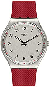 Swatch SS07S105 Rubber Grey-Dial Round analog Unisex Watch - Red
