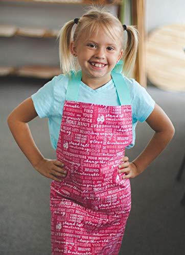 Encouraging Words Kitchen Art Craft Handmade Gift Apron for Girls from Sara Sews