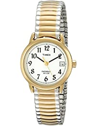 Timex Women's T2H381 Easy Reader Two-Tone Stainless Steel Expansion Band Watch