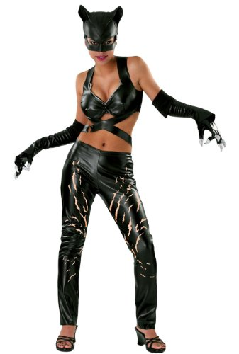 Deluxe Catwoman Costume - Medium - Dress Size 10-12 (Deluxe Adult Catwoman Costume)
