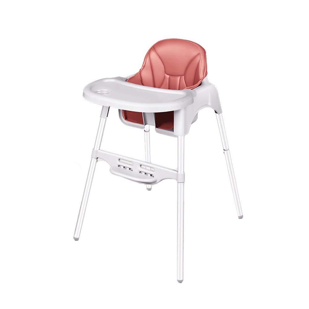 DUWX - ベビーハイチェア、6ヶ月から4歳までのお子様に最適なホーム多機能ベビーアジャスタブルシート ベビーハイチェア (Color : Pink)  Pink B07V5DSJ99