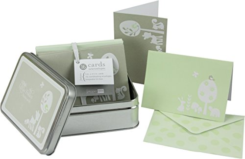 Blank Inside Embossed Note Cards & Envelopes w/ Tin Keepsake Container